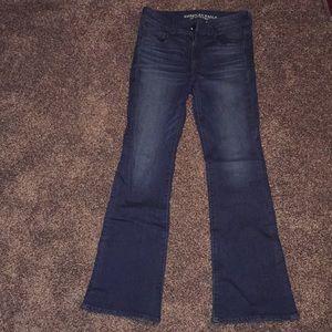 American Eagle High Rise Kick Boot Jeans 8Reg